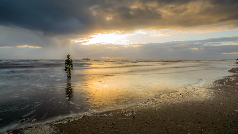 Crosby beach Merseyside